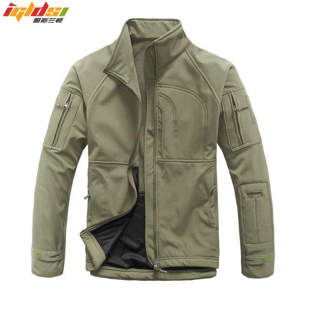 Мужская камуфляжная куртка, ветрозащитная тактическая куртка в стиле милитари, с воротником стойкой, флисовая верхняя одежда