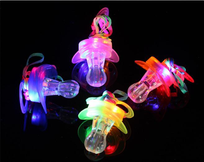 Kreativ 200 Teile/los Led Schnuller Pfeife Licht Halsketten Nippel Blinkende Kinder Spielzeug Für Weihnachten Bar Partei Liefert Moderate Kosten