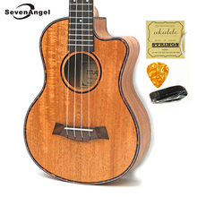23 inch Mahogany Ukelele Missing Angle Ukulele Hawaiian 4 Strings Guitar Music Instrument Electric Ukulele with Pickup EQ цена