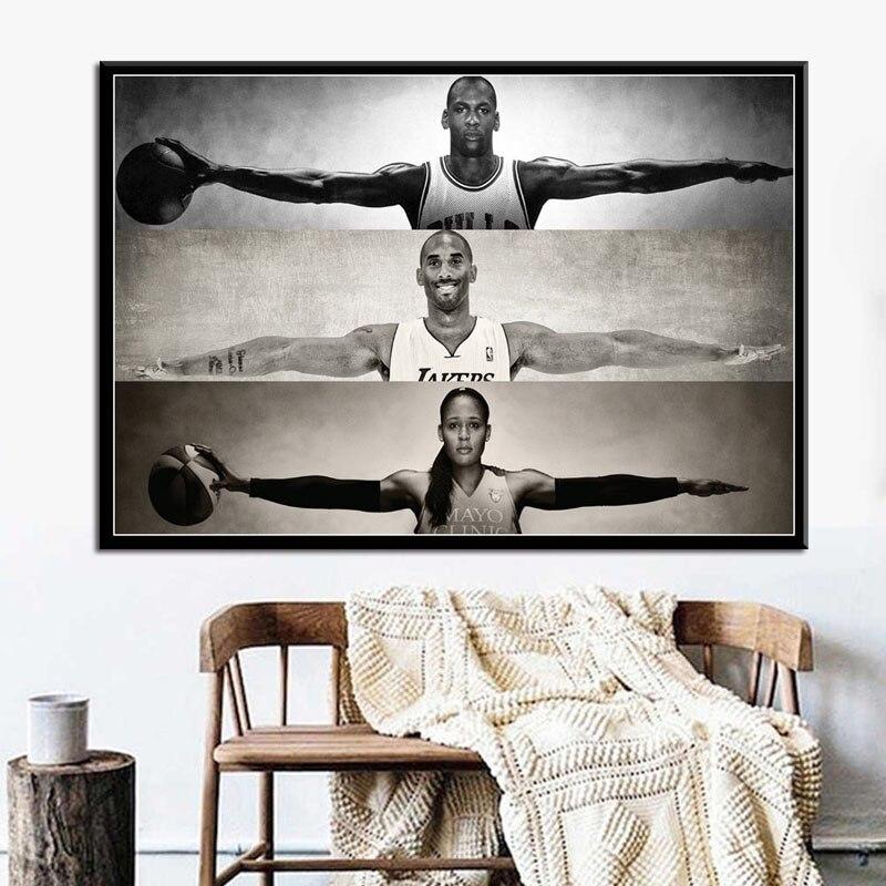 Maya Moore Michael Jordan Lebron James Custom New Art Poster Print Wall Decor
