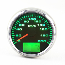 9-32V 0-200km/h GPS Speedometer Gauge 85mm Auto LCD Speed Odometers 7 Colors Backlight