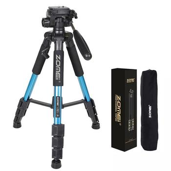 цена на ZOMEI Q111 Camera Tripod Professional Camera Tripods Aluminum Alloy Camera Tripod for DSLR Canon Nikon Sony DV Video