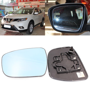 For Nissan X-Trail 2008-2017 Side View Door Mirror Blue Glass With Base Heated 1 Pair
