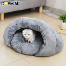 Lovely Fleece Cat Beds Cute Sleeping Bags Soft Warm Houses Pet Mats Puppy Cushion Small Dog Funny
