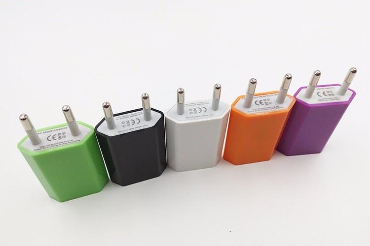 ממתקים נסיעות האיחוד האירופי תקע USB מטען קיר הבית קיר מתאם AC עבור Samsung Galaxy S5 Note 4 LG עבור iphone 5 6 6 פלוס מטען לטלפון