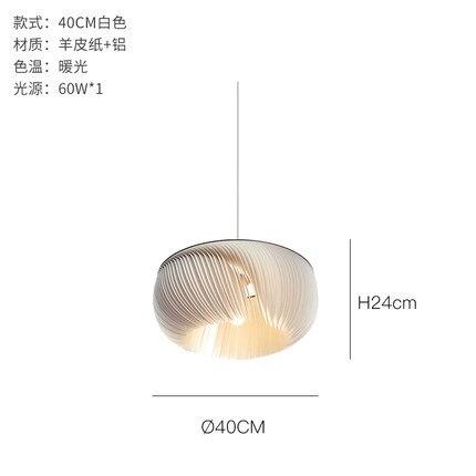 Image 5 - Nordic Modern LED creative Aluminum pendant light parchment deco pendant lamps living room lighting LED suspension luminairesPendant Lights   -