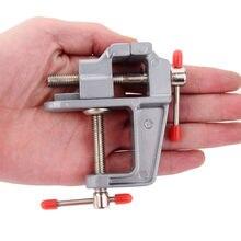 Новое поступление 3,5 дюйма алюминиевый миниатюрный маленький зажим для хобби ювелира на стол скамейка тиски мини-инструмент тиски многофункциональные