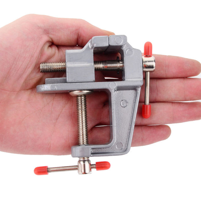 "NEW Arrival 3.5"" Aluminum Miniature Small Jewelers Hobby Clamp On Table Bench Vise Mini Tool Vice Muliti-Funcational"