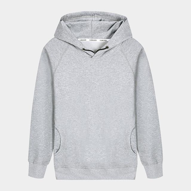 f1345c43 Blank Gray Hooded Men Hoodies for Women Unisex Fleece Warm Outerwear Basic  Sweatshirt Winter Man Clothes 3XL 4XL 5XL RMH175004. Anniversary Sale