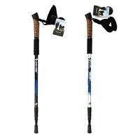2 Pcs Pair 330g Pcs Telescoping Anti Shock Nordic Walking Stick Trekking Hiking Poles Alpenstock Cork