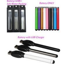 20pcs / lot Colorful O.pen vape батарея касания касания с резьбой 510 для картриджей ручки испарителя CE3 e испарителя пачки сигареты