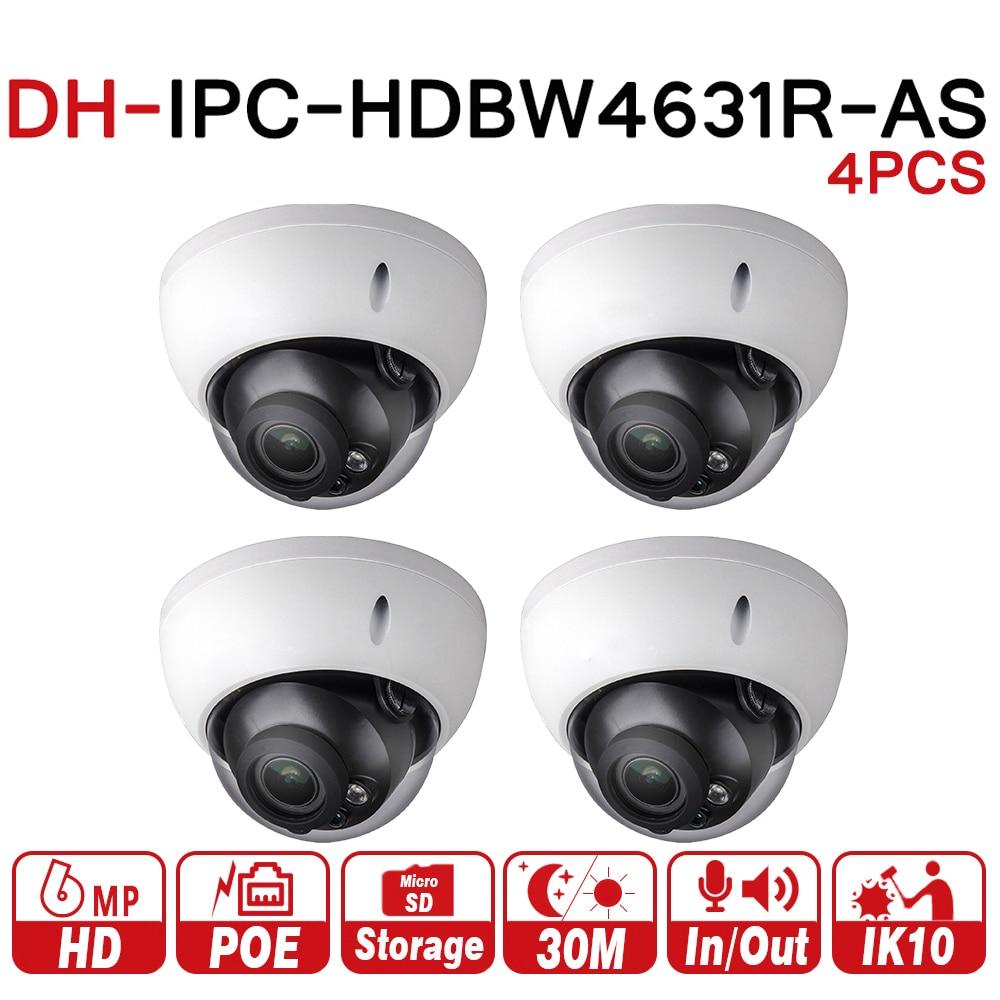 купить New DH 6MP Camera IPC-HDBW4631R-AS Upgrade From IPC-HDBW4431R-AS IK10 IP67 Audio &Alarm Port PoE Camera With SD Slot 4pcs/lot по цене 17370.89 рублей