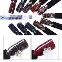 1 st Dubbelsidig kattögonmagnetisk pennpennablomma för DIY 3D-magnet UV-gelpolsklack Design Manikyr Nail Art Tools
