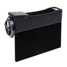 Multifunction Car Driver Seat Side Pocket Storage Box Car Seat Filler Gap Organizer With 2 USB Charging Ports недорого