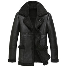 YOLANFAIRY Genuine Leather Jacket Men Winter Natural Wool Fur Coat Real Sheepskin