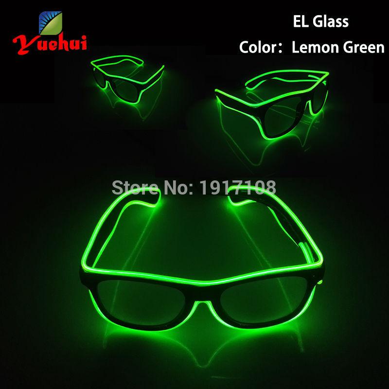싼! 10 색 깜박이 파티 장식 LED 안경 크리스마스 장식 사운드 활성 배터리 전원 공급 EL 안경 웨딩 용품