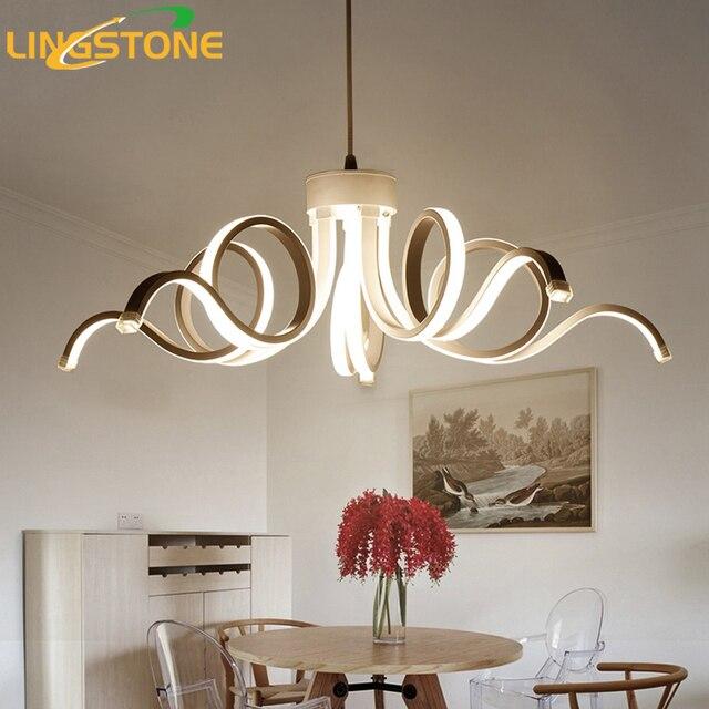 Candelabro Led Moderno Iluminacion Novedad Lustre Lamparas Colgantes - Lmparas-dormitorio
