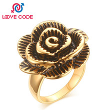 Unique Swarovski Rose Flower Ring Jewelry Accessies Female Love Knuckle Ring
