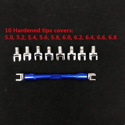 Spoke Spanner Wrench Tensioner Adjuster Tools Covers Spanner 5.2-6.8 Fit for Motorcycle Dirt Bike CRF KTM