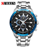Curren Quartz Steel Precision Inveted Vogue Business Men Man S Watch With 3ATM Waterproof Dropship Blue