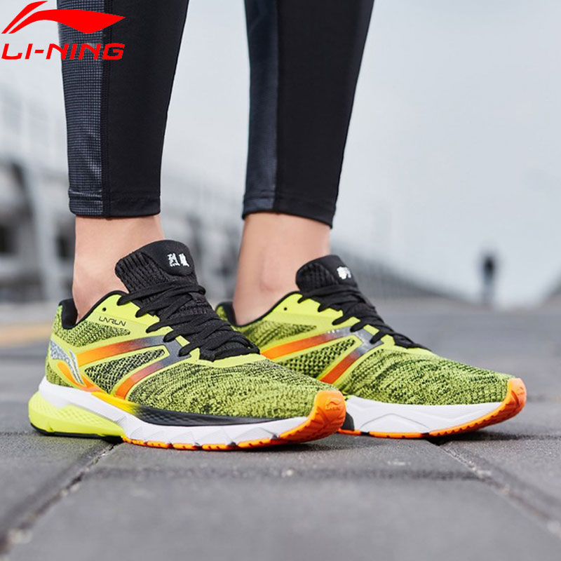 Li Ning Men FURIOUS RIDER Running Shoes Breathable Cushion Mono Yarn LiNing Stable Sport Shoes Sneakers
