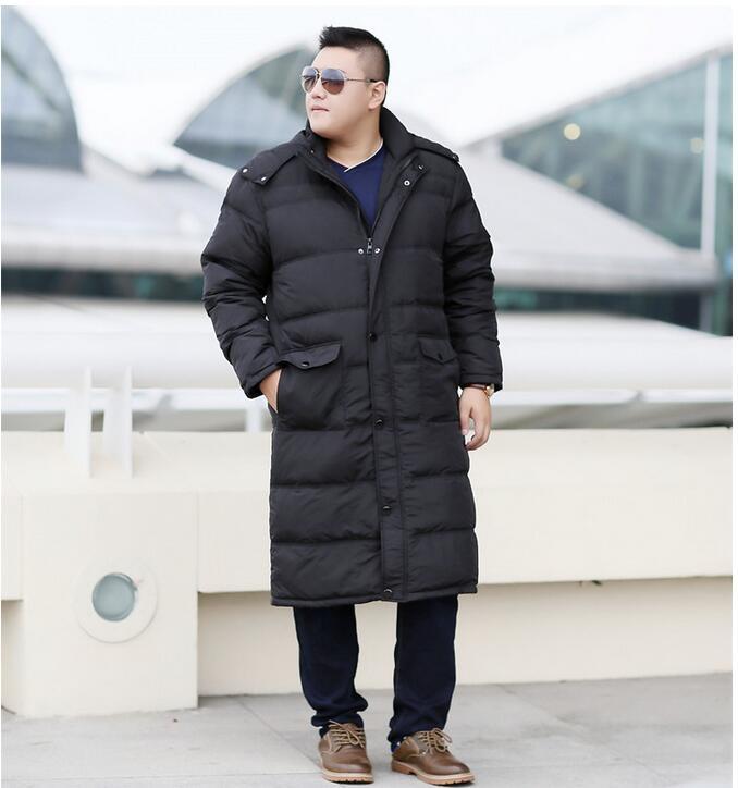Plus Size Men's Down Coat Winter Long Down Jacket Coat For Men Hooded Winter Coat Thick WinterJacket Custom Made