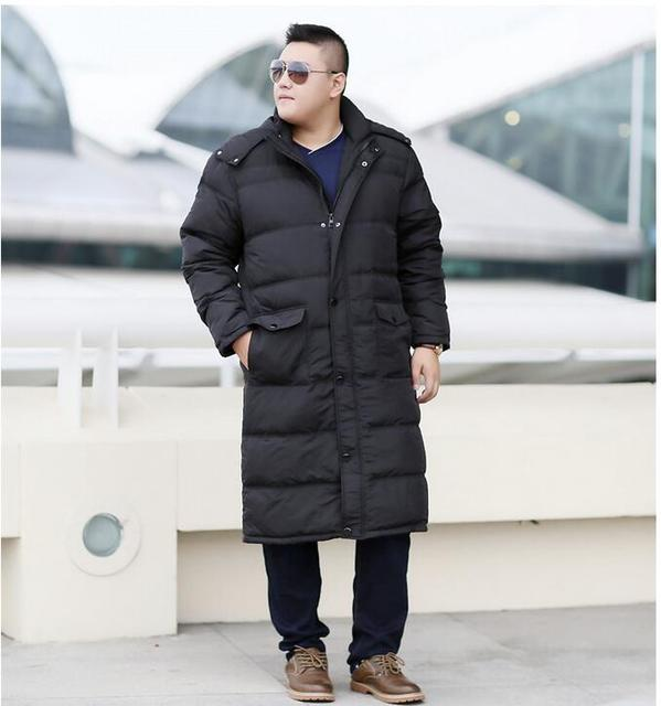 150d5b6ceb86 Plus Size Men s Down Coat Winter Long Down Jacket Coat For Men Hooded  Winter Coat Thick WinterJacket Custom Made