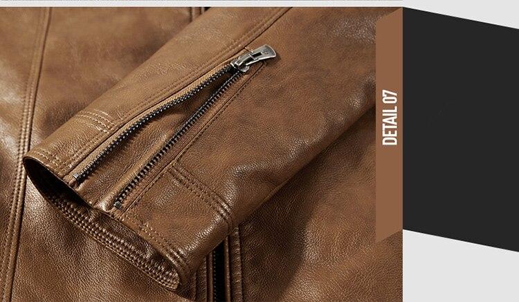 HTB1g 2 Kf1TBuNjy0Fjq6yjyXXaR DAVYDAISY 2019 High Quality PU Leather Jackets Men Autumn Solid Stand Collar Fashion Men Jacket Jaqueta Masculina 5XL DCT-245
