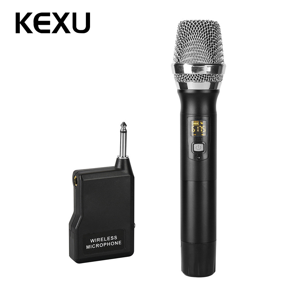 kexu professional wireless microphone dynamic uhf abs handheld mic with receiver for karaoke. Black Bedroom Furniture Sets. Home Design Ideas