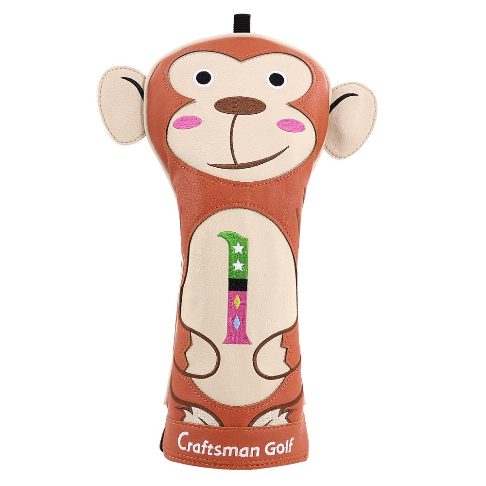 Craftsman Golf HeadCover Driver Animal Headcover Monkey 440cc Driver PU Leather Protector-FREE SHIPPING