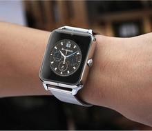 แฟชั่นบลูทูธสมาร์ทสมาร์ทนาฬิกานาฬิกาS Mart W Atchนาฬิกาข้อมืออุปกรณ์เครื่องแต่งตัวสำหรับA Ndroidโทรศัพท์กับกล้องสนับสนุนซิม