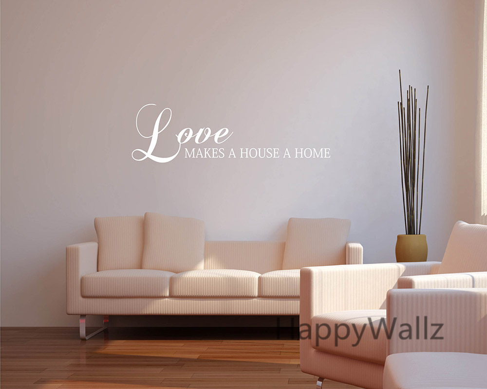 Love makes a house a home love home quotes wall sticker diy custom love makes a house a home love home quotes wall sticker diy custom colors decorative love family quotes vinyl wall decals q144 in wall stickers from home amipublicfo Gallery