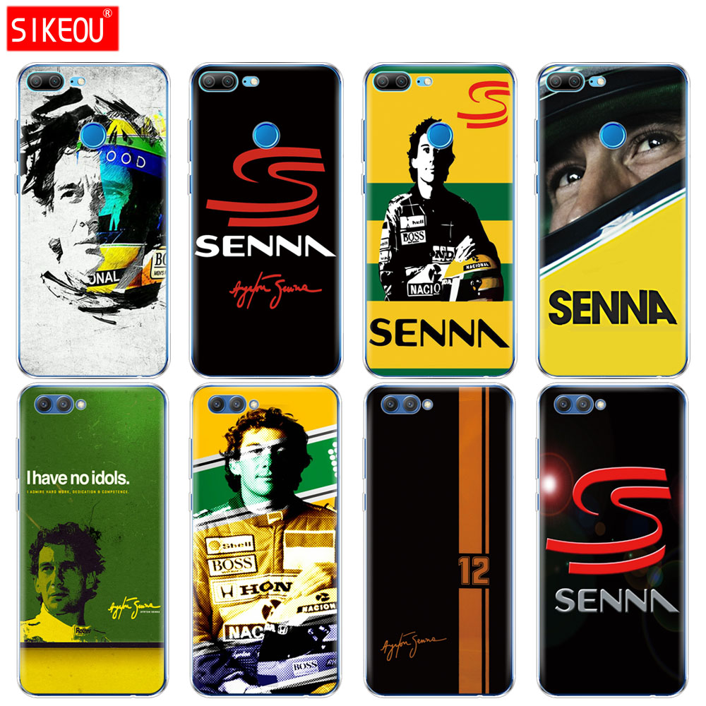 Silicone Cover phone Case for Huawei Honor 10 V10 3c 4C 5c 5x 4A 6A 6C pro 6X 7X 6 7 8 9 LITE Ayrton Senna
