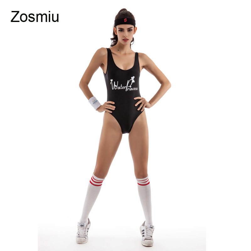 Zosmiu Hot One Piece Swimsuit Women Suit Brazilian Swimwear Lady Sexy Backless Swimsuits Bathing Suit New Sport Swiming Monikini