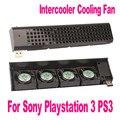 Alta qualidade usb 4 quad 40mm jogo gaming cooler ventilador ventiladores de refrigeração para sony playstation 3 para ps3 preto