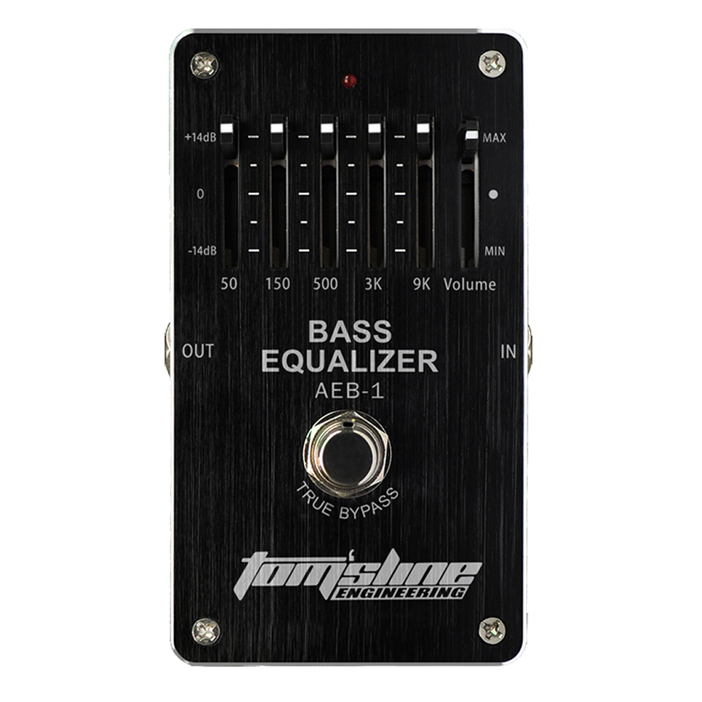 Tomsline AEB-1 Bass 5-Band EQ Premium Analogue Effect True Bypass AROMA new aroma adr 3 dumbler dumble amp sound overdrive mini analogue effect true bypass