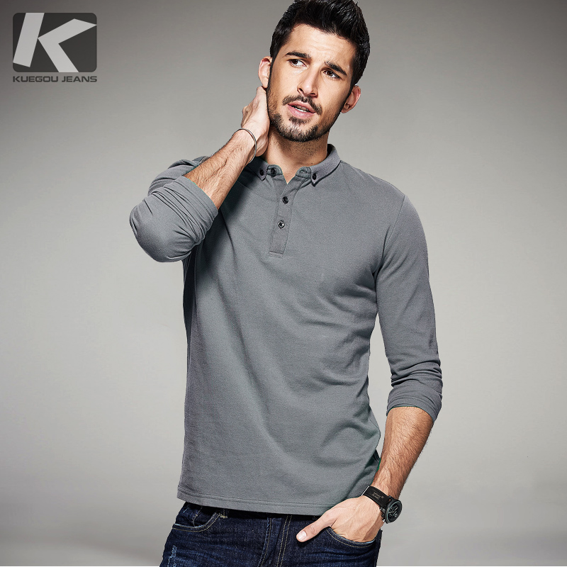 2017 spring mens casual polo shirts 100 cotton solid for Expensive mens dress shirts brands