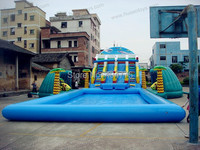 2014 new giant inflatable water park inflatable water slides with pool free shipping