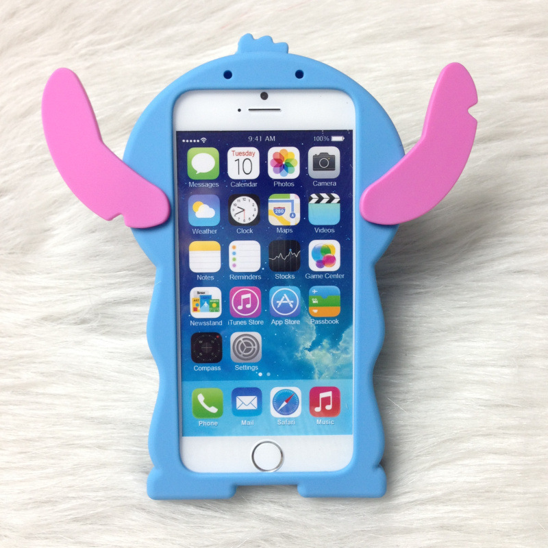size 40 90e0a 3e8d9 3D Cute Anime Cartoon Stitch Case For iPhone 7 Plus 8G 6S Plus 5G 5S SE 4  4S Case Silicone Soft Rubber Back Cover Fundas