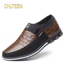 CHUTEIRA Leather men's casual shoes brand 2019 men's casual shoes soft shoes breathable shoes XL 38-46 sneakers