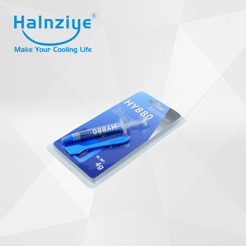 Halnziye HY880 super CPU thermal grease/compound/paste for overclocking blister card 4g