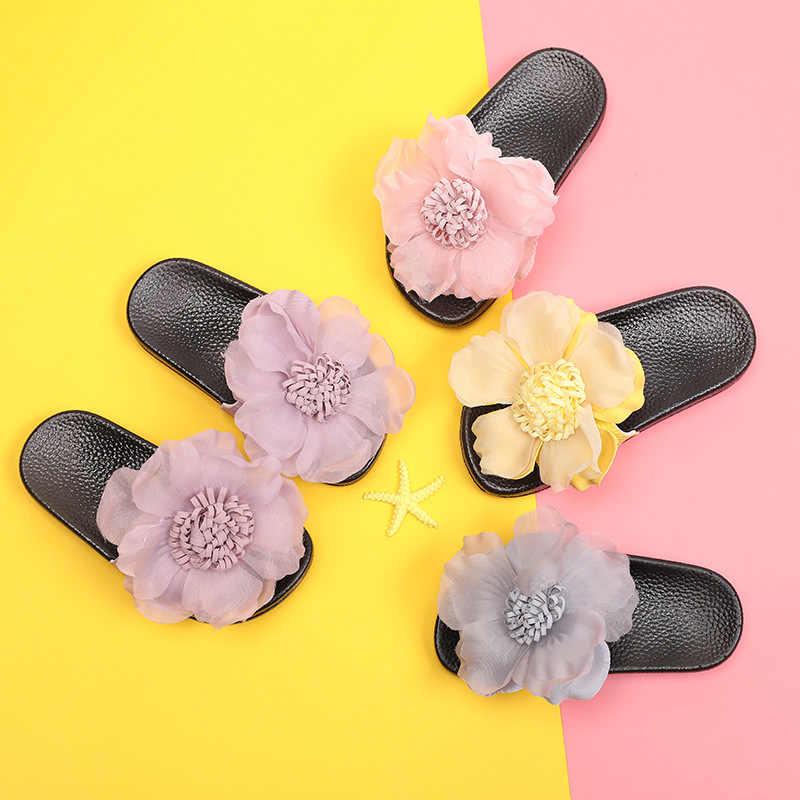ฤดูร้อนใหม่ 2019 เด็กทารกดอกไม้สไลด์เด็กชายหาดรองเท้าแตะเด็กวัยหัดเดินรองเท้าแตะลำลองเด็ก PVC สไลด์เจ้าหญิงรองเท้า