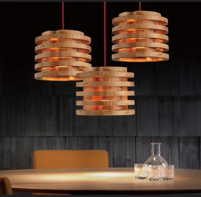aliexpress koop massief houten kroonluchters nordic designer