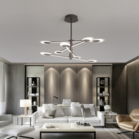 Novo moderno conduziu a luz de teto marrom luzes de teto para sala estar cama quarto iluminação casa lâmpada do teto lamparas techo