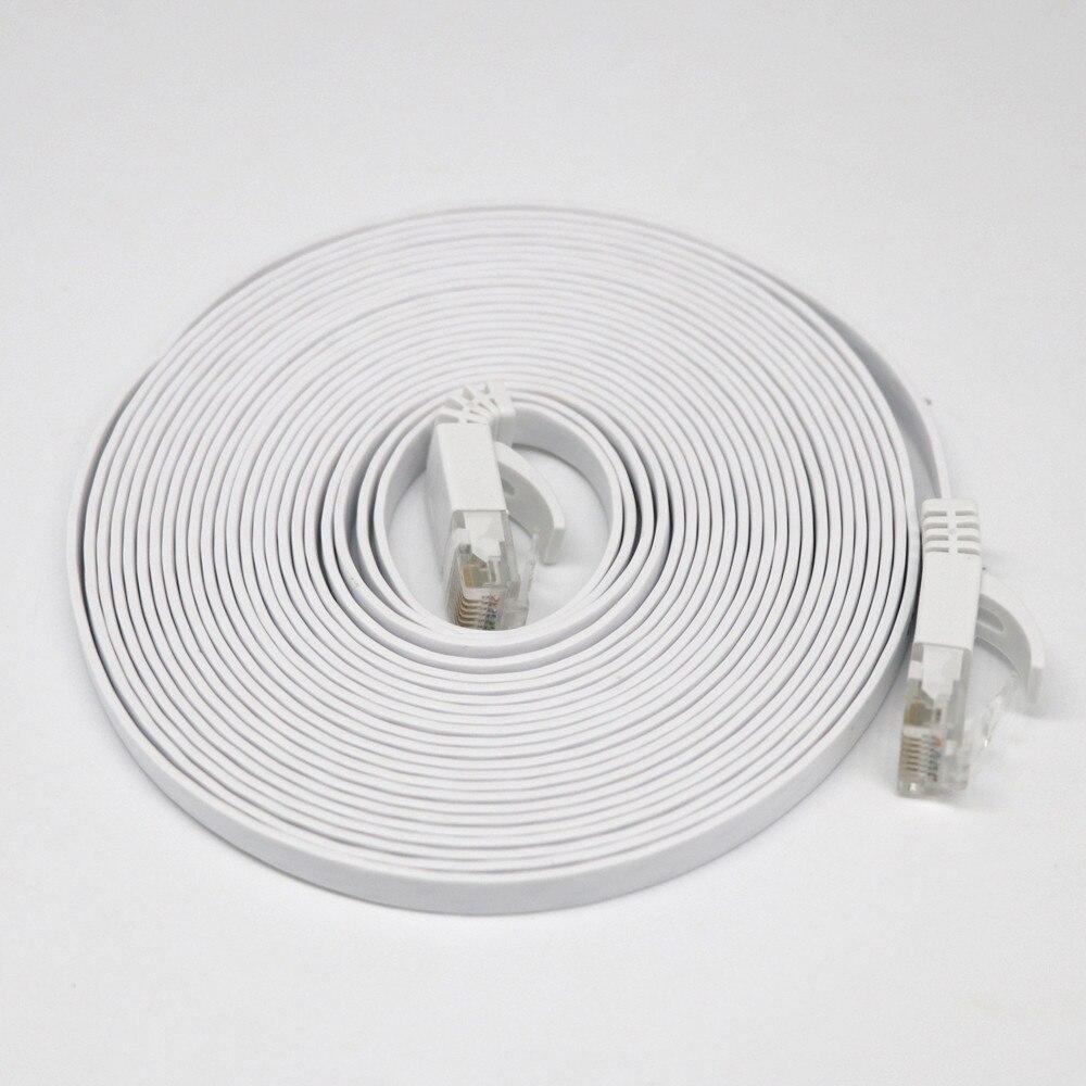 RJ45 CAT6 Ethernet Network LAN Cable Flat UTP Patch Router Interesting 1-20M Lot