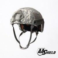 AA Shield Ballistic ACH High Cut Tactical TeijinHelmet Bulletproof FAST Aramid Safety NIJ Level IIIA Military Army ACU