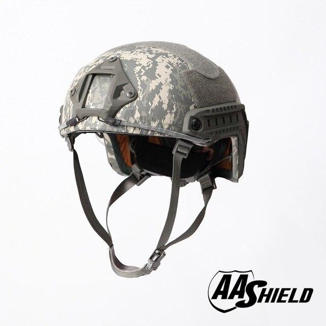 AA מגן בליסטי ACH גבוהה לחתוך טקטי TeijinHelmet Bulletproof מהיר ארמיד בטיחות NIJ רמת IIIA צבאי צבא ACU