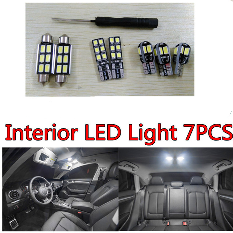 Tcart 7pcs X free shipping Error Free LED Interior Light Kit Package for skoda octavia 2 A5 eaccessories 2005-2013 tcart 7pcs free shipping error free auto