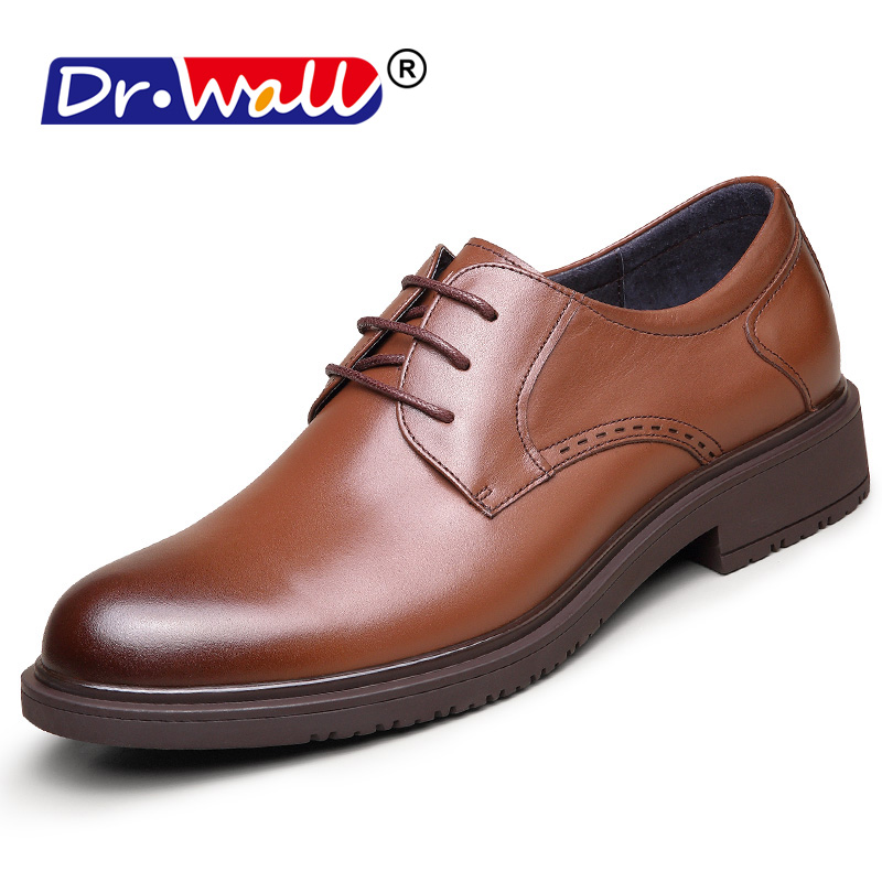 Men Leather Shoes Casual New 2018 Genuine Leather Men Oxford Fashion Lace Up Dress Shoes Outdoor Business Derby Work Shoes pjcmg new fashion luxury comfortable handmade genuine leather lace up pointed toe oxford business casual dress men oxford shoes