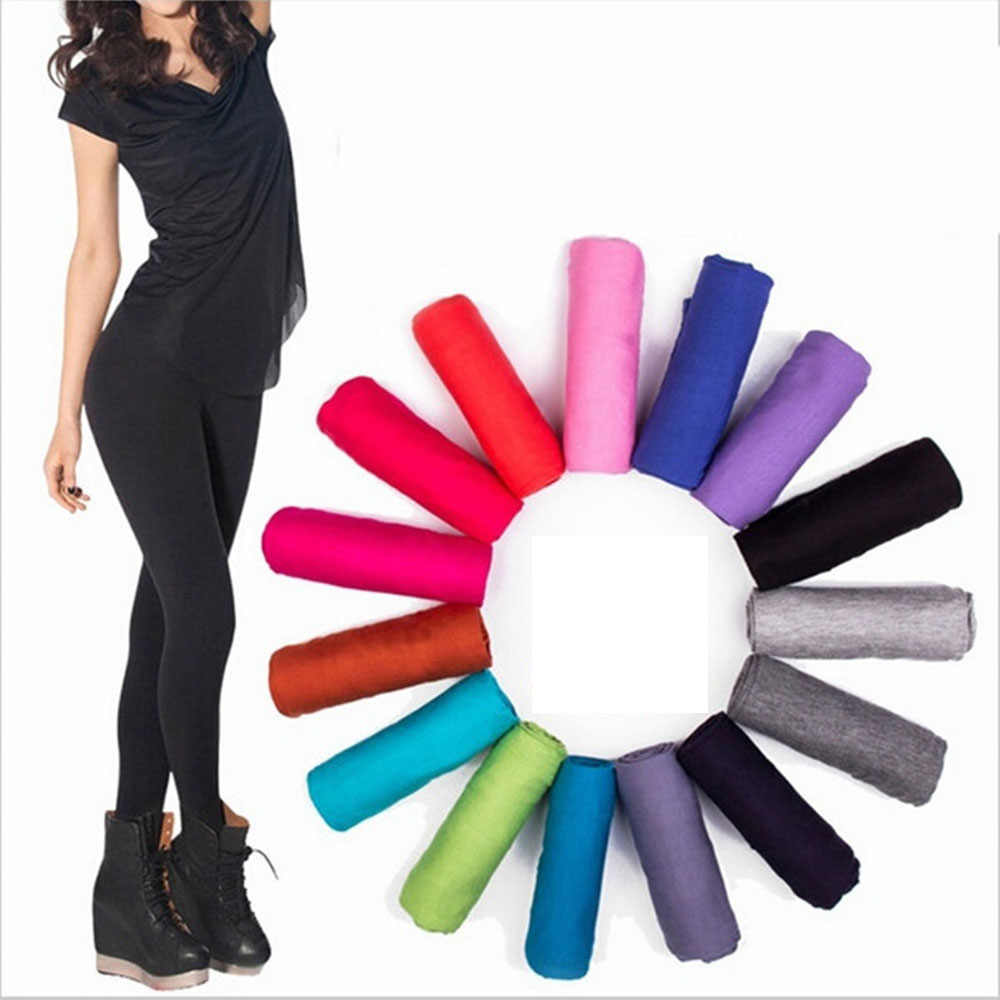 c832f9005020d Detail Feedback Questions about Sexy Women's Modal Cotton Solid Color  Fitness Leggings Fashion Girl Leggins Plus Size Elastic Gothic Women  Leggings on ...